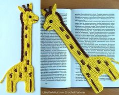 Giraffe Bookmark or Decor - $3.50 by Kate of Little Owls Hut