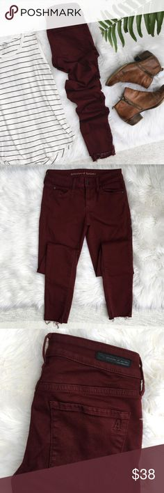 """Articles of Society Maroon Skinny Jeans Articles of Society 