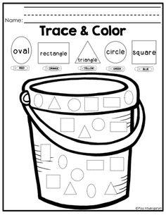 Trace & color shape practice