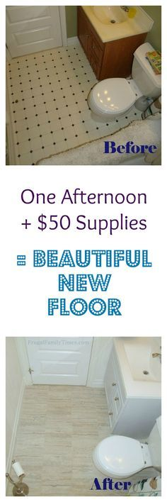 Easy!  Affordable!  Beautiful!  How to Install Peel and Stick Vinyl Tile (that you can grout!)  $50 plus one afternoon.