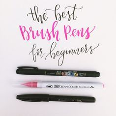 What are the THREE best brush pens for beginners?  This is a question that I get asked regularly by hand lettering newbies! There are three specific pens that stand out to me the most: Pentel Fude Touch, Zig Clean Color, and Tombow Fudenosuke.