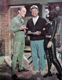 frank gorshin | Above: Again on set of the BATMAN '66 film, Frank Gorshin