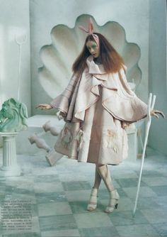 A Magic World, Vogue Italia January 2008, John Galliano Spring 2008 RTW, photo by Tim Walker