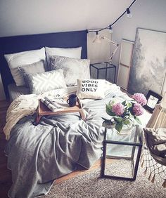 ❤️ Dreamy bedrooms on Instagram •  photo © @marzena.marideko • because this bedroom is pretty awesome