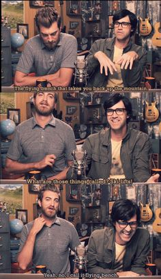 Good Mythical Morning - Rhett and Link Good Mythical Morning, Funny Memes, Hilarious, Dan And Phil, Let Them Talk, Just For Laughs, Comedians, I Laughed, Laughter