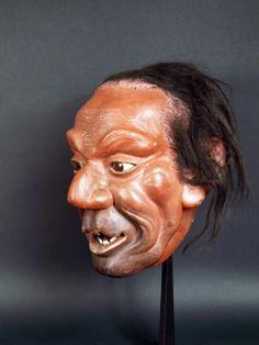Japon, Tête Iki Ningyo, époque Meiji. Japanese Mask, Lee Jeffries, Vintage Japanese, Artwork, Work Of Art, Auguste Rodin Artwork