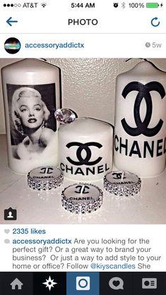Chanel DIY candles