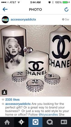 Chanel DIY candles