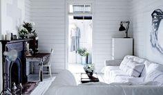 Dressmaker's white vintage interior in the Byron Bay hinterland