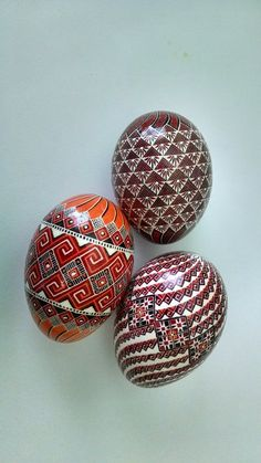 Three lovely Pysanky by Stephany Troy
