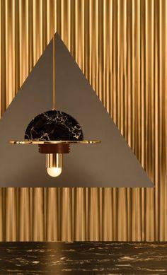 masquespacio studio | spanish design studio | raco ambiante | contemporary lighting | marble pendant | marble lighting | golden lighting | golden light | newest lighting | trendy light | trendy lighting | lighting trends | masquespacio