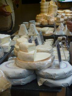 Cheeses at 'Alsop & Walker' - Borough Market, London, England, UK