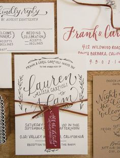 Wedding Invitation Ideas: Letterpress Rustic Hand Lettered Wedding Invitations with Burgundy Details by Bright Room Studio via Oh So Beautiful Paper Wedding Invitation Trends, Wedding Invitation Inspiration, Country Wedding Invitations, Rustic Invitations, Wedding Stationary, Invitation Cards, Invitation Wording, Invitation Ideas, Invitation Suite