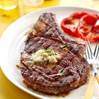 BHG's Newest Recipes:Cowboy Steak and Whiskey Butter Recipe