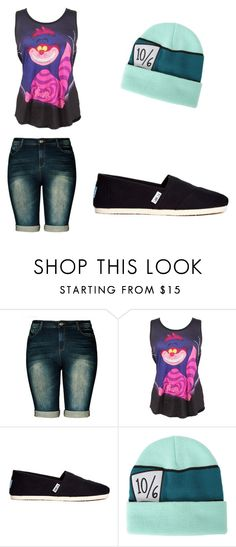 """Disney Spring"" by jvanbuekenhout ❤ liked on Polyvore featuring City Chic, Disney and TOMS"