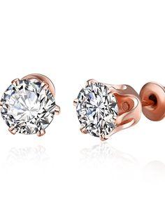 #AdoreWe #VIPme Earrings - Rich Long Stud Earrings Simple Style Cubic Zirconia  - AdoreWe.com