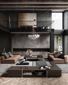 Luxury Interior, Modern Interior Design, Interior Architecture, Chic Living Room, Living Room Interior, Dream Home Design, House Design, Loft Design, Design Moderne
