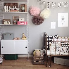 Pink and brown is a lovely colour combo for a girls room