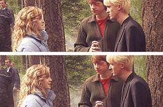 Tom Felton, Rupert Grint and Emma Watson on the set of Harry Potter Hermione Granger, Draco Malfoy, Draco And Hermione, Ron Weasley, Severus Snape, Harry Potter Jokes, Harry Potter Cast, Harry Potter Universal, Harry Potter Hogwarts