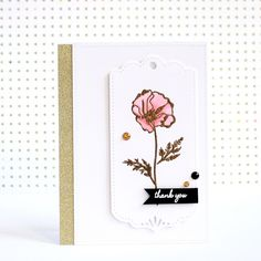 Thank you card  with Cherrylana Designs Stamps