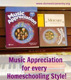 homeschool music history/appreciation and composer study curriculum
