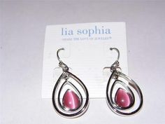 Lia Sophia COTTON CANDY Earrings #196, Retailed for $28 in the 2007 Fall/Winter catalog.