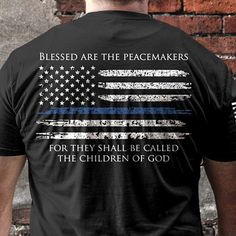 Thin Blue Line Men's T-Shirt - Black
