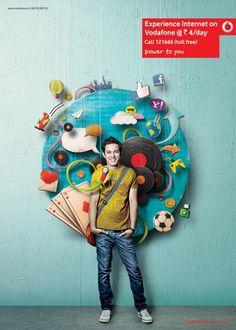 Mix Illustrations - Vodafone by Nasheet Shadani, via Behance