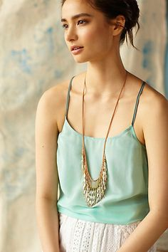 cowrie fringe necklace