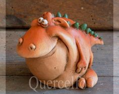 Custom Baby Dragon Sculpture Standing by MakoslaCreations on Etsy