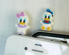 Disney Cell Phone Dust Plugs | ... Disney Donald and Daisy Couple 2 for 1 price - Cell Phone Dust Plugs