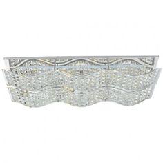 Prostokątny plafon kryształowy Spindle - LampyTanie - 887,19 PLN