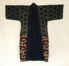 Japanese Antique Textile Tsutsugaki Fireman's Coat