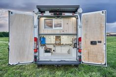Our favorite custom DIY Dodge ProMaster camper conversions. Get design and layout ideas from full time van lifers. Ford Transit Conversion, Camper Conversion, Portable Stove Top, Dodge Camper Van, Vw Camper, Campers, Propane Stove Top, Camper Van Kitchen, Van Design