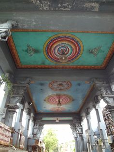 A Look Inside Wayanad #India #Profugo #InternationalDevelopment #Nonprofit #painted #ceiling #colorful