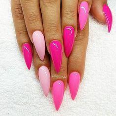 Afbeeldingsresultaat voor paars roze ombre nails