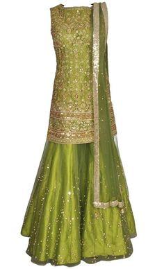 WhatsApp: Bringing luxury Indian fashion at yo Mehndi Outfit, Mehndi Dress, Sharara Designs, Pakistani Outfits, Indian Outfits, Bridal Outfits, Bridal Dresses, Lehenga Choli, Anarkali