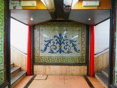 Mosaico protegido de la estación de tren.