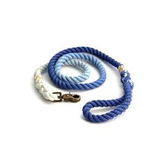 Rope Dog Leash: Royal Blue Ombre