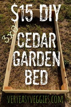 Can't stand the expense of raised garden bed kits? Here's simple, frugal DIY garden bed tutorial that just about anyone can use to build a garden bed. Cheap Raised Garden Beds, Raised Vegetable Gardens, Building Raised Garden Beds, Diy Garden Bed, Vegetable Garden For Beginners, Easy Garden, Gardening For Beginners, Gardening Tips, Vegetable Gardening