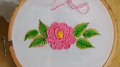 Hand Embroidery: Puffed Satin Stitch - YouTube