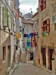 Alley Taken in Rovinj, Istria (Croatia).