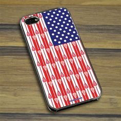 Lacrosse iPhone/Galaxy Case USA Lacrosse Sticks Flag - This customizable protective case is the perfect accessory for any lacrosse player's ...