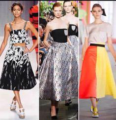 Tea length skirts, Spring 2014