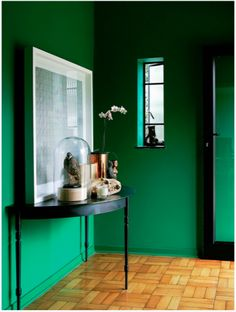 Nothing could be more glamorous than a velvet, emerald green couch. It's super easy to recreate this look and feel at home (well, in part.) Paint your cabinets in a lush shade such as Dulux's Dublin Bay 1 – go for gloss for an even slicker effect.