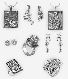 The Alice jewellery collection was inspired by the iconic tale of Alice in Wonderland and features a variety of  themes from the story. All crafted in oxidized sterling silver. https://zanfeldjewellery.com/product-tag/alice-in-wonderland-collection/