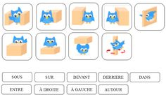 vocabulaire spatial Math Gs, School Organisation, Petite Section, Prepositions, Busy Bags, School Bags, Montessori, Projects To Try, Positivity
