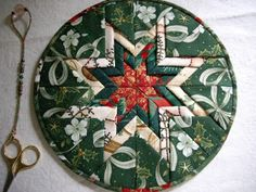 Recently Debbie  showed a pretty trivet that she received.  Many years ago I learned how to do this technique, and finally I have had time t...