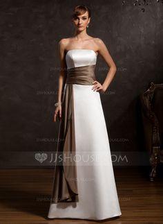 Mother of the Bride Dresses - $106.99 - A-Line/Princess Strapless Floor-Length Satin Mother of the Bride Dress With Sash (008015120) http://jjshouse.com/A-Line-Princess-Strapless-Floor-Length-Satin-Mother-Of-The-Bride-Dress-With-Sash-008015120-g15120?snsref=pt&utm_content=pt