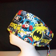 Surgical cap, scrub cap, chemo cap, tie back 1229 by NinsThisandThat on Etsy